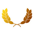 wreath leafs crown award vector image