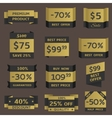 Golden prices vector image
