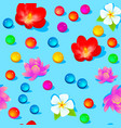 a bright seamless background with flowers vector image vector image
