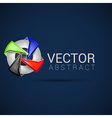 Abstract shape eps10 design color abstract icon vector image