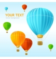 air balloons background vector image vector image