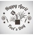 April fools day emblem