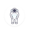 astronaut space suit icon in flat style vector image vector image