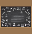 back to school hand drawn school icons and vector image