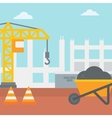 Background of construction site vector image vector image