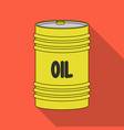 barrel of oiloil single icon in flat style vector image
