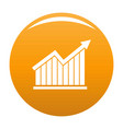 best graph icon orange vector image vector image