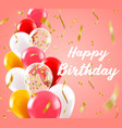 birthday realistic balloons background balloon vector image