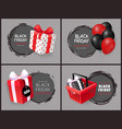 black friday discount and sales isolated banners vector image vector image