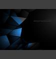 blue metal shapes scene vector image vector image