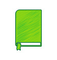 book sign lemon scribble icon on white vector image vector image