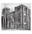 bristol cathedral vintage vector image vector image