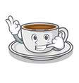 call me coffee character cartoon style vector image vector image