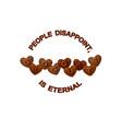 chocolate slogan heart shaped chocolate vector image vector image