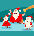 christmas design with cartoon santa claus vector image