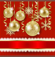 christmas with baubles on knitted background vector image vector image