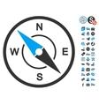 Compass Icon With Free Bonus vector image