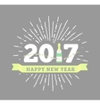 congratulations to happy new 2017 year with a vector image
