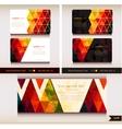 corporate identity templates geometric pattern vector image