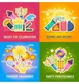 Crackers fire show holiday party pyrotechnics vector image vector image