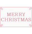 cross stitch merry christmas frame vector image vector image