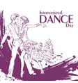 dance day ballroom dancing latina vector image vector image