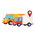 delivery service vehicles transportation isolated vector image vector image