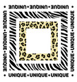 design for a square shawl or headscarf zebra and vector image vector image