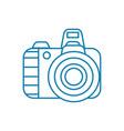 digital camera linear icon concept digital camera vector image