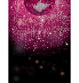 Disco ball pink sparkling background vector image vector image