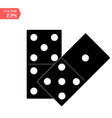 domino icon isolated on white background for your vector image vector image