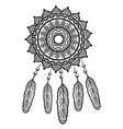 Dream catcher mandala style vector image