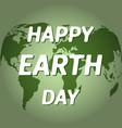 earth day poster with the earth day vector image