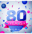 Eighty years anniversary celebration on grey vector image vector image