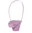 Empty wicker floral basket vector image