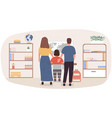 family doing homework together teaching geography vector image vector image