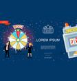 flat casino and gambling template vector image vector image