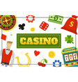 flat casino elements concept vector image