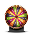 fortune wheel 3d object win fortune vector image vector image
