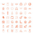 girl icons vector image vector image