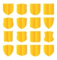 Golden shields set vector image