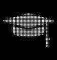 graduation cap halftone icon vector image vector image