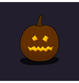 Halloween Terrible Pumpkin on Dark Background vector image vector image