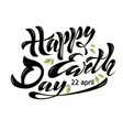 happy earth day 2 vector image
