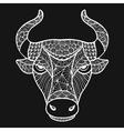 Head Buffalo style zentangle vector image vector image