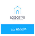 home instagram interface blue outline logo with vector image vector image