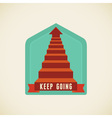 keep going vector image vector image