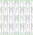 leaf blossom pattern white purple and green vector image vector image