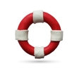 Lifebuoy on white background vector image