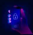 mobile security data protection concept vector image vector image